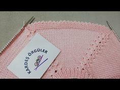 💛TIRTIKLI KESME TEKNİĞİ💛FARKLI ÖRGÜ KAPATMA TEKNİKLERİ - YouTube Baby Knitting, Crochet Baby, Crochet Bikini, Knit Edge, Baby Vest, Lace Closure, Hair Designs, Tatting, Stitch Patterns