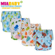 6pcs//lot Miababy Printed Reusable Onesize Washable Cloth Diaper cover