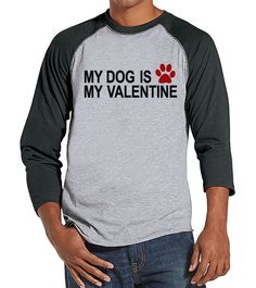 {Now Available} New product: Men's Valentine S.... Check it out here! http://7ate9apparel.com/products/mens-valentine-shirt-funny-dog-valentine-shirt-mens-happy-valentines-day-shirt-funny-anti-valentines-gift-for-him-grey-raglan?utm_campaign=social_autopilot&utm_source=pin&utm_medium=pin