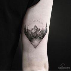 "917 Likes, 9 Comments - ⭕️Golden Iron Tattoo Studio⭕️ (@goldeniron_tattoos_toronto) on Instagram: ""Landscape by Calvin. @grxsy #thefineartfactory #goldenirontattoostudio #teamgoldeniron"""