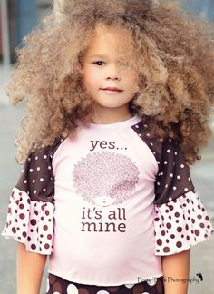 Lovely sandy brown curly fro
