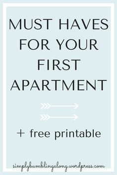 11 things your first apartment needs! | Ideas | Pinterest ...