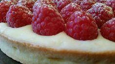 Raspberry tart - sweet crust pastry, créme pâtissier and raspberries