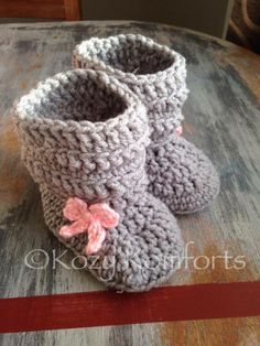 Baby Slouch Boots (www.facebook.com/kkomforts) #craftyab Knit Crochet, Handmade Items, Canada, The Incredibles, Babies, Crafty, Facebook, My Favorite Things, Knitting