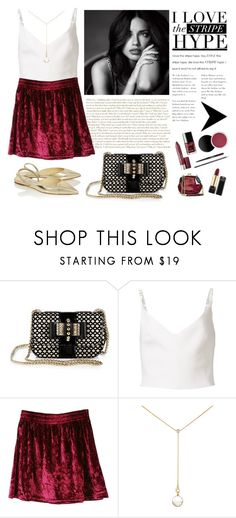 """Burgundy"" by elyherrera ❤ liked on Polyvore featuring Christian Louboutin, Preen, Renee Lewis and Jimmy Choo"