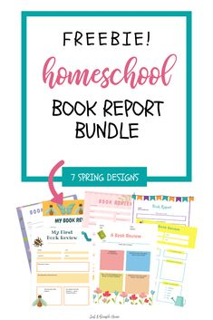 Free Homeschool Book Report Printables - Just A Simple Home