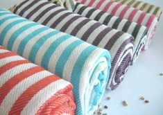 NATURAL Cotton Turkish Towel Peshtemal Bath and by TheAnatolian