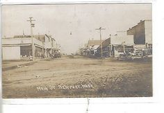 RPPC-Main Street-Newport,Washington (Horse and Wagons)