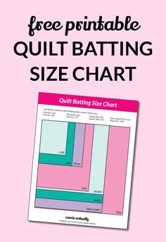 Free Printable Quilt Batting Size Chart | I find myself looking this up over and over again, how do different quilt sizes compare to each other? Click through to get access to your free printable.