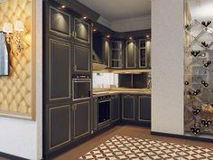 Кухня. Дизайн 3-комнатной квартиры в классическом стиле в ЖК «Платинум»