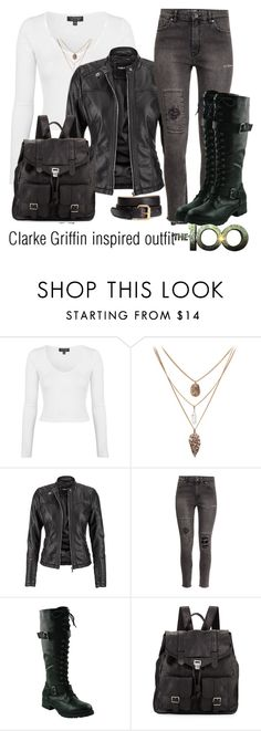 """Clarke Griffin inspired outfit/The100"" by tvdsarahmichele ❤ liked on Polyvore featuring Topshop, maurices, H&M and Proenza Schouler"
