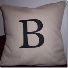 Stenciled DIY Pillow Cover {Pillows}