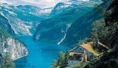 In Norway, visit the World Heritage site of Geirangerfjord and experience its natural beauty. Geirangerfjord is 10 miles long and 960 feet deep.