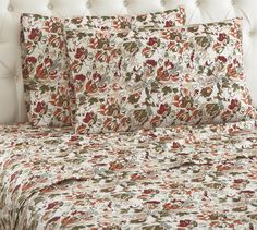 This beautiful floral print patterned Micro Flannel® sheet set will bring a touch of elegance and an abundance of softness to your home.    Quality printed material that won't bleed or fade, discover our floral reverie Micro Flannel® sheets.