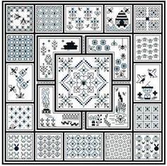 Midnight Garden (blackwork) Some free patterns from Nordic Needle.