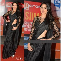 Pragya Black Satin Silk Saree