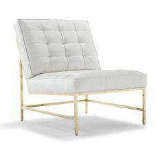 MAJOR CHAIR POLISHED BRASS FINISH