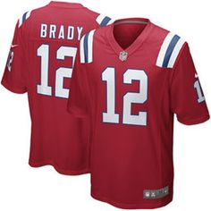 Mens New England Patriots Tom Brady Nike Red Alternate Game Jersey