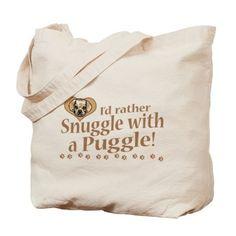 Snuggle Puggle Tote Bag on CafePress.com
