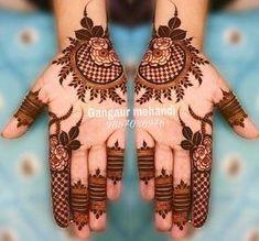 Gorgeous Eid Al-Adha Mehndi Designs 2019 - Kosmetik Nageldesign - Henna Designs Hand Easy Mehndi Designs, Henna Hand Designs, Dulhan Mehndi Designs, Latest Mehndi Designs, Mehandi Designs, Bridal Mehndi Designs, Round Mehndi Design, Mehndi Designs Finger, Floral Henna Designs