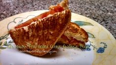 GF Grilled Cheese with Gouda and Tomatoes,