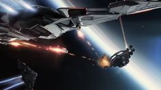 Aegis Eclipse Stealth Bomber - Space battle