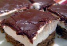 Smetanové řezy s čokoládovou náplní a luxusní chutí připravené za 20 minut!