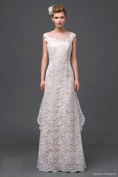 alberta ferretti bridal 2015 cap sleeve wedding dress orione