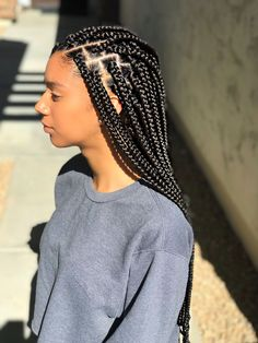 Medium/Small sized Box Braids - Black/Brown Box Braids - Protective Style