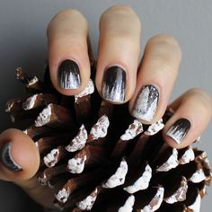 Snowy trees and icicles nail design! #winterwonderland #themattestandard