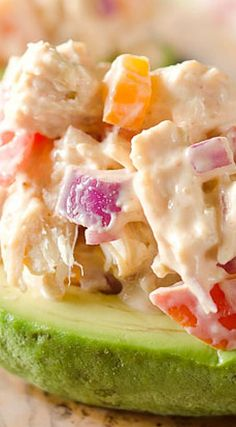 Chipotle Chicken Salad Stuffed Avocados