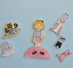 Make something lovely for the little girl in your life with the Beautiful Ballerina Printable Paper Doll. While this tutorial lists instructions to make the doll out of felt, you can add tabs and make this free printable paper doll out of paper. Paper Doll Craft, Doll Crafts, Paper Crafts, Kids Crafts, Paper Doll Template, Paper Dolls Printable, Paper Dolls Clothing, Tiny Dolls, Bear Doll
