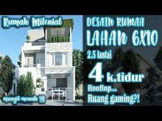 Rumah lahan 6x10 dengan 4 kamar tidur 2,5 lantai - YouTube Broadway Shows, Interior, Houses, Indoor, Interiors