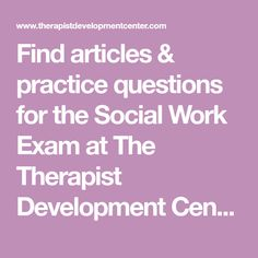 Find articles & practice questions for the Social Work Exam at The Therapist Development Center blog. Articles & topics for LMSW Exam & MFT Exam prep help. Social Work Exam, Coaching Questions, Antisocial Personality, Mental Health Counseling, Narcissistic Personality Disorder, Exam Study, Articles, Blog, Blogging