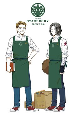 Steve and Bucky get jobs at Starbucks because Steve blew up SHIELD. I would go there every day just to see them.