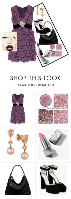 """""""Violet"""" by m-aviles-ma ❤ liked on Polyvore featuring Anna Sui, LE VIAN, Burberry, Michael Kors, Jimmy Choo and MAC Cosmetics"""