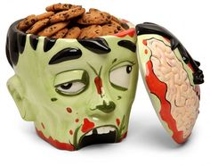 Zombie Head Cookie Jar @nicole Seeley I WANT THIS!! and I thought you'd appreciate it too!!
