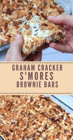 These Graham Crackers SMores Brownie Bars. These Graham Crackers SMores Brownie Bars are gooey chewy a little crunchy loaded with chocolate marshmallows and graham cracker bits for a gooey fudgy dessert youll love! Smores Brownies, Marshmallow Brownies, Brownie Bar, Brownie Deserts, Marshmallow Desserts, Smores Cake, Caramel Brownies, Chocolate Brownies, Köstliche Desserts