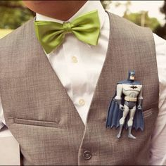 For the groom who loves his superheros, let him rock his favorite on your wedding day!