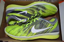 112449979014b Nike 5.0 TR Fit 5 Print Womens 704695-004 Volt Grey Training Shoes Size 10  for sale online