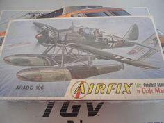 Airfix #1209 1/72 Arado 196 Float Plane  Plastic Military Model Kit Aircraft #airfix