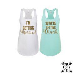 Bridesmaid shirts-bachelorette party shirts-bride by LVRandCo