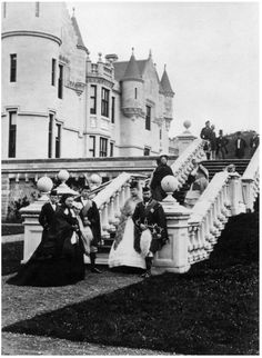 Balmoral Castle - Queen Victoria with the Prince of Wales and Princess Alexandra