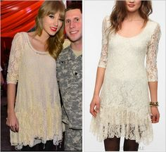 GET THE LOOK: Urban Outfitters 'Ecote Ruffle Hem Lace Dress' - $29.99 (on sale!)