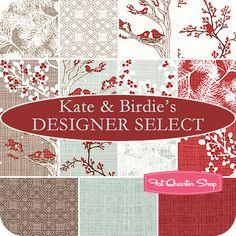 Kate & Birdie's Designer Select Fat Quarter Bundle Winter's Lane Collection - Fat Quarter Shop