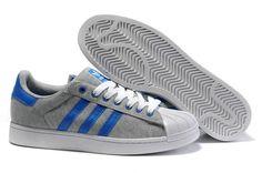 new arrival 03578 a2319 ADIDAS SUPERSTAR II Grey   blue Cheap Adidas Shoes, Adidas Shoes Women,  Adidas Sneakers