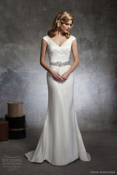 Elegant and glamorous wedding gown