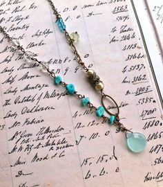 Amelia.sea blueturquoise beadedvintage by tiedupmemories on Etsy