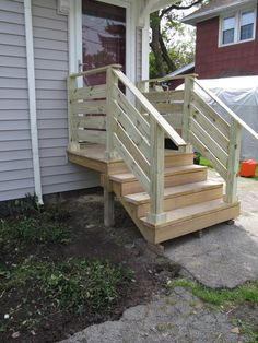 how to build a basic 2x4 handrail for a deck or balcony diy