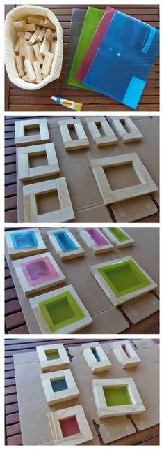 Bloques con ventanas de colores DIY - DIY colored window blocks • Montessori en Casa